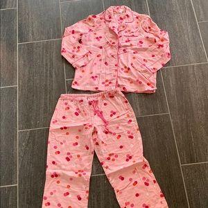Victoria's Secret pink polka dot pajama set